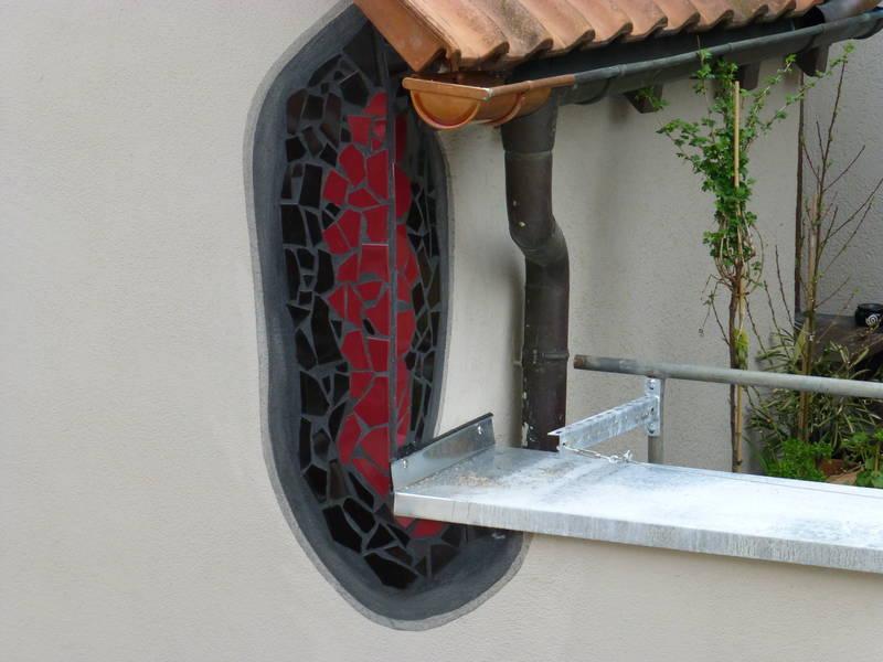 Gestltung einer Fassade in Plochingen nach Hundertwasser